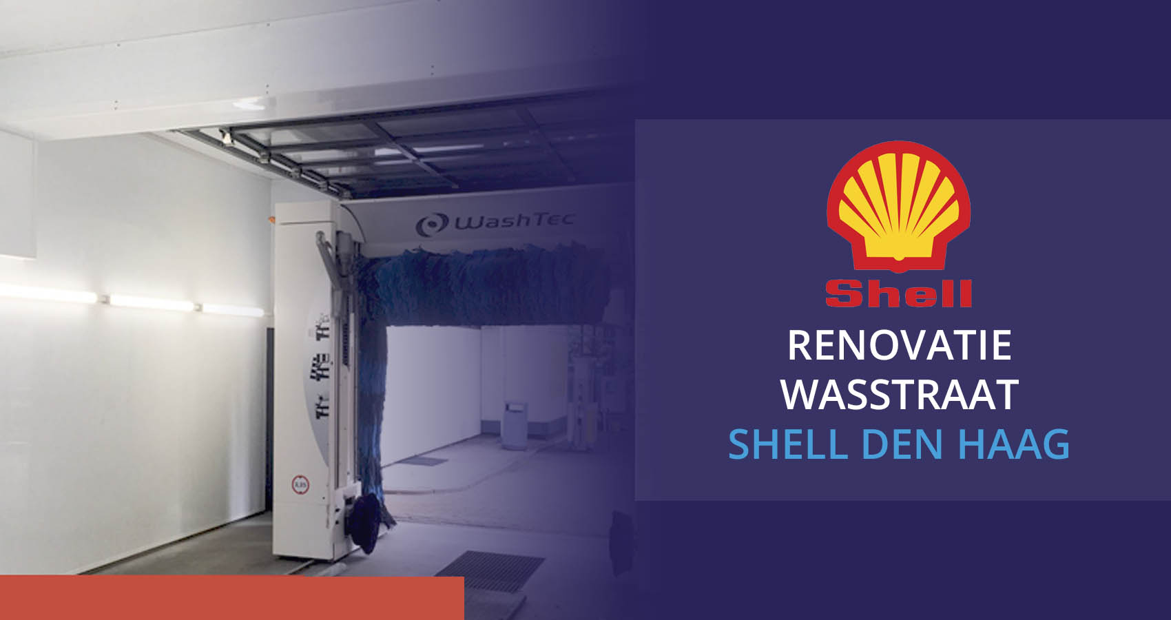 Renovatie Shell wasstraat Sakko in Den Haag