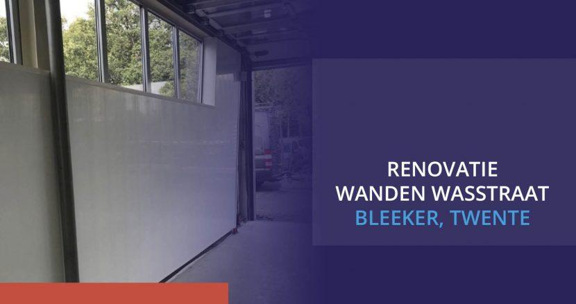 Renovatie wanden wastraat blekker in twente