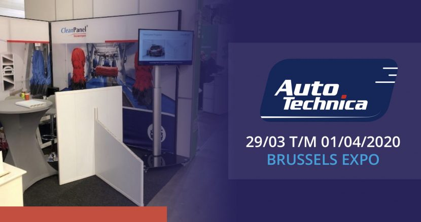 Cleanpanel aanwezig bij Autotechnica 2020 in Brussel.