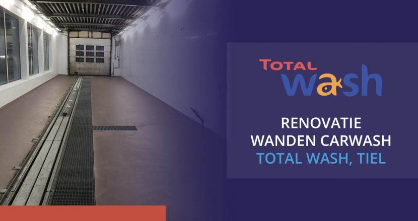 Renovatie wanden carwash Total Wash Tiel