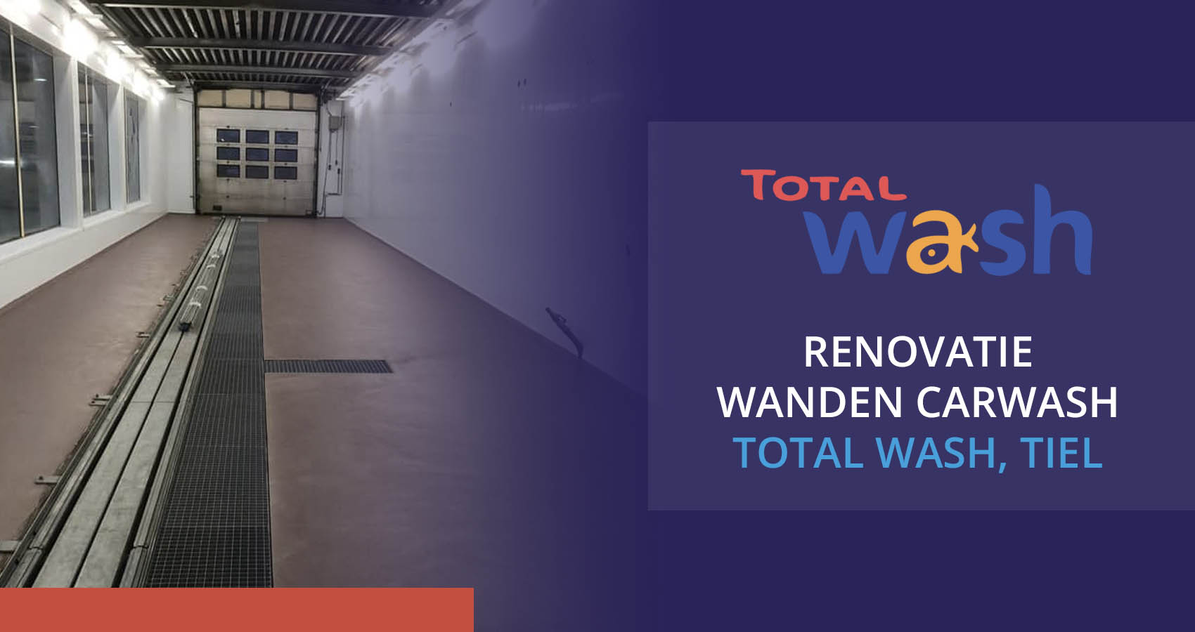 Renovatie wanden carwash Total Wash Tiel