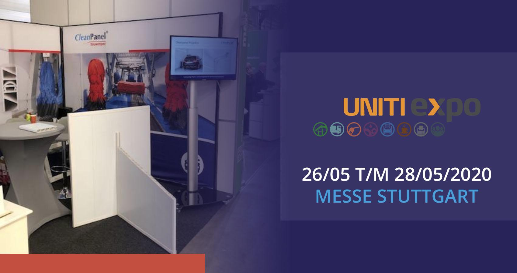 Bezoek de Cleanpanel stand bij de Uniti expo in Stuttgart.
