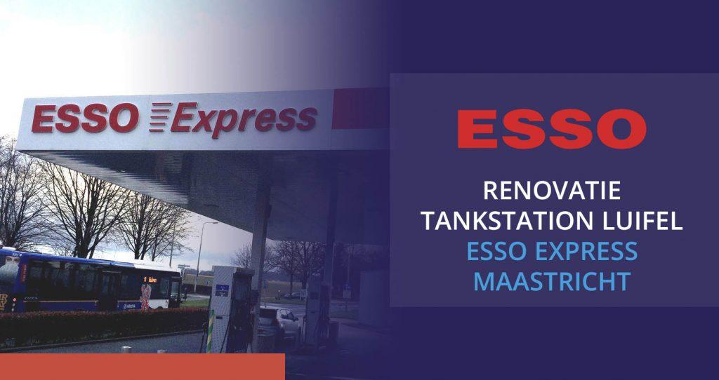Renovatie luifel Esso Express Maastricht