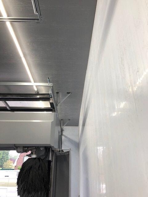 Wand met kunststof Cleanpanel panelen